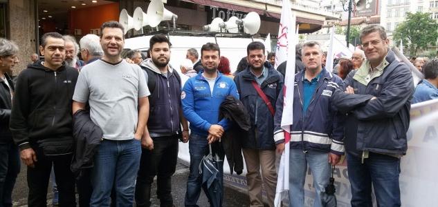 Δυναμικό και αγωνιστικό παρών έδωσαν οι συνάδελφοι με τις δυνάμεις της ΠΑΣΕΒΕ